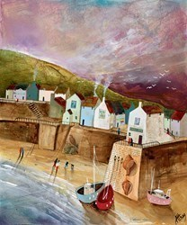 Harbour Dusk by Keith Athay -  sized 20x24 inches. Available from Whitewall Galleries